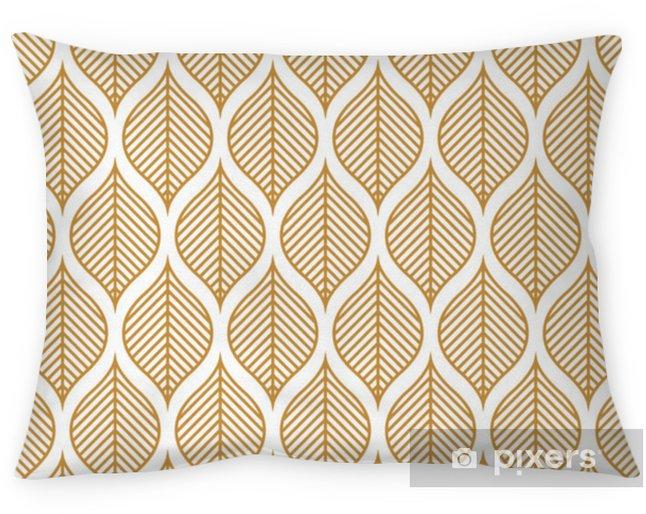 Cojín decorativo Vector de patrones sin fisuras de la hoja geométrica. resumen deja textura. - Recursos gráficos