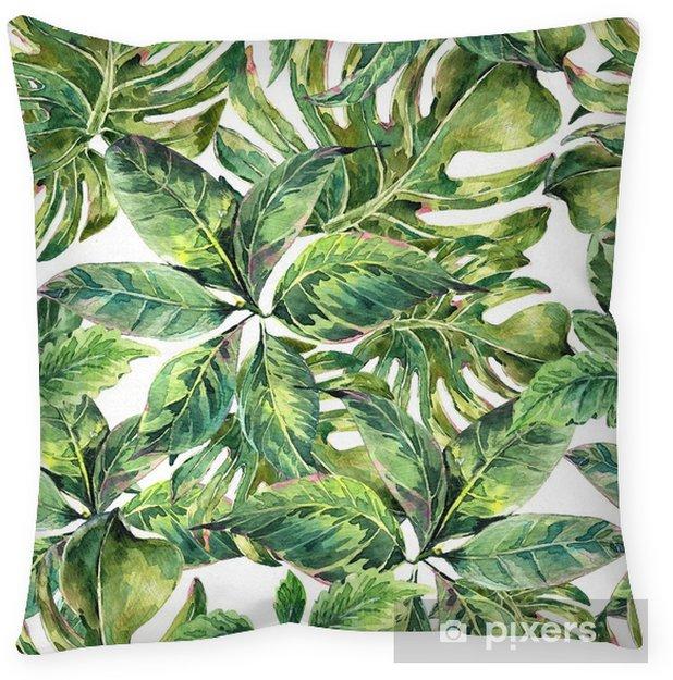 Cojín decorativo Verano acuarela exótica patrón transparente - Hobbies y entretenimiento