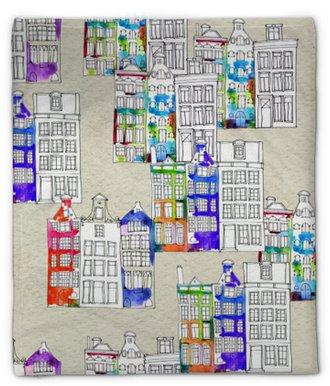 Coperta di peluche Seamless pattern eith acquerello amsterdam case