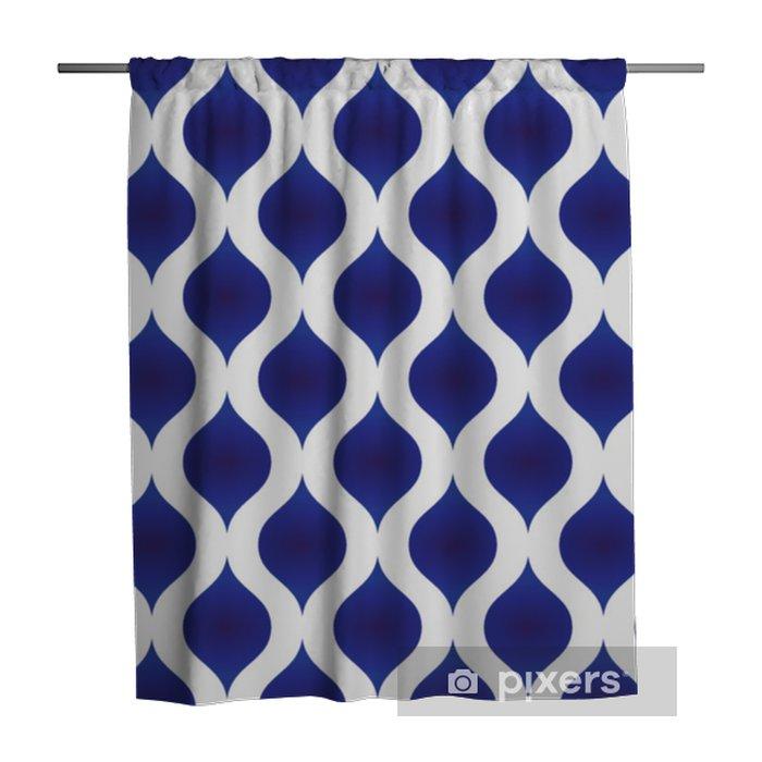 Cortina de ducha Forma moderna de cerámica patrón - Recursos gráficos
