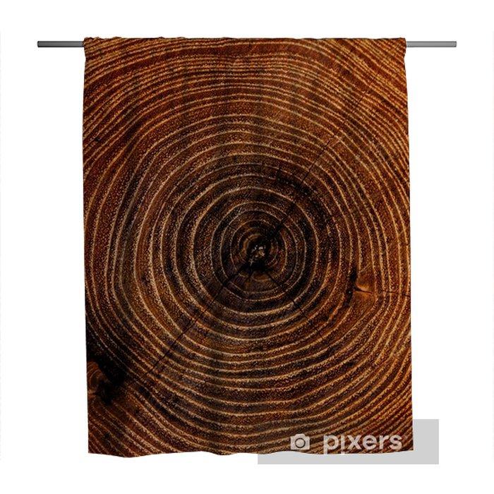 Cortina de ducha Gran trozo de madera cortada. textura de nudo de tronco de árbol apenado de madera con anillos anuales - Recursos gráficos