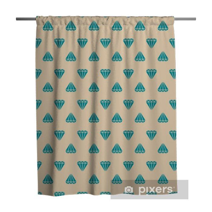 Cortina de ducha Patrón de diamantes - Recursos gráficos