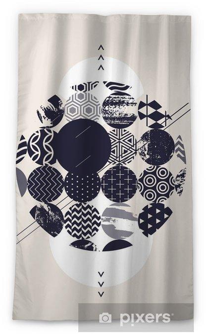 Cortina opaca Círculos decorativos abstractos - Recursos gráficos