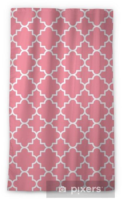 Cortina opaca Contorno de patrón de celosía quatrefoil tradicional. Fondo de quatrefoil rosa. ilustración vectorial - Recursos gráficos