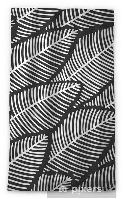 Cortina opaca Elegante patrón sin costuras hojas - Plantas y flores