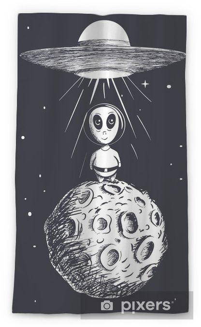 Cortina transparente Extranjero aterrizó a la luna de OVNI - Ciencia