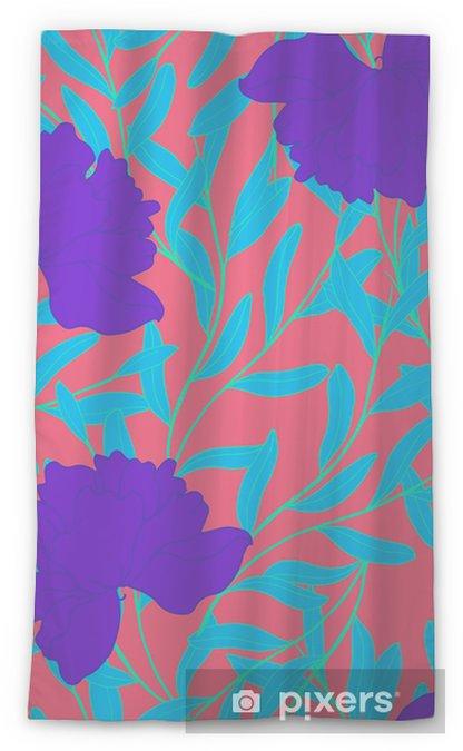 Cortina transparente Patrón de elegancia abstracta con fondo floral. - Plantas y flores
