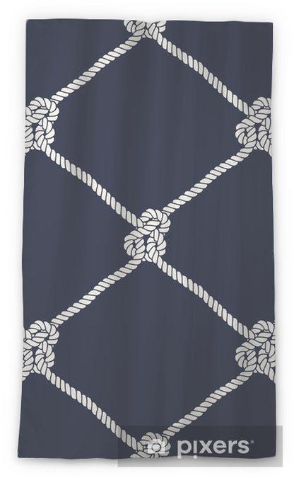 Cortina transparente Patrón de nudo de cuerda náutica inconsútil - Recursos gráficos