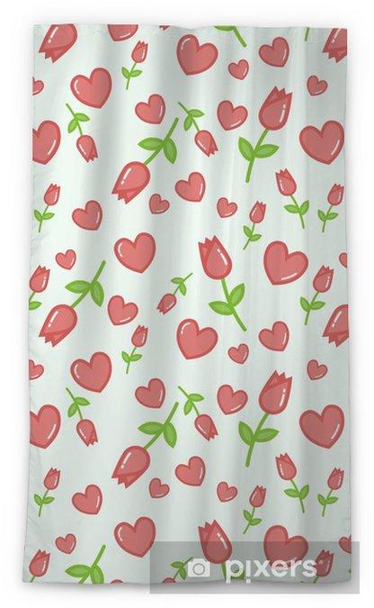 Cortina Transparente Patrón De Vector Transparente Con Fondo Blanco Tulipanes De Color Rosa Fondo Transparente Floral Para Vestido Fabricación