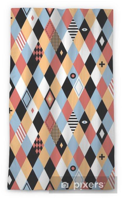 Cortina transparente Patrón geométrico transparente en estilo plana con rombos de colores. Útil para envolver, papel pintado y textil. - Recursos gráficos