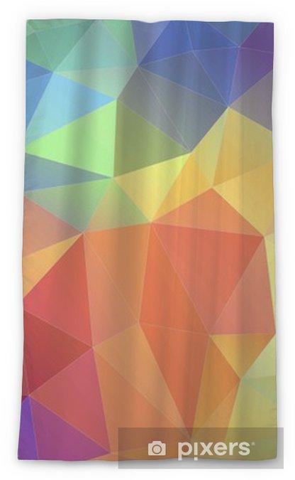 Cortina transparente Triángulo plano multicolor triángulo geométrico fondo de pantalla - Hobbies y entretenimiento