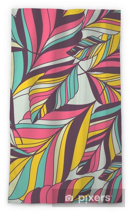 Cortina transparente Vector sin patrón con la mano multicolor dibujado decorativa le - Otoño