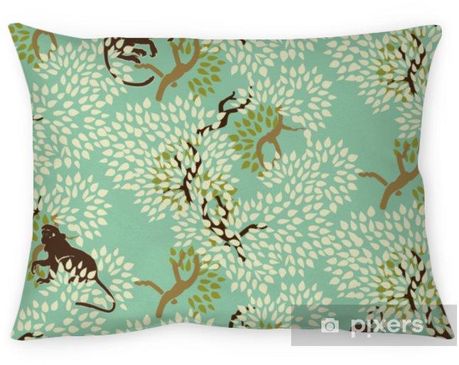 Coussin décoratif Abstrait motif floral sans soudure. arbres et singes. bois exotique - Ressources graphiques