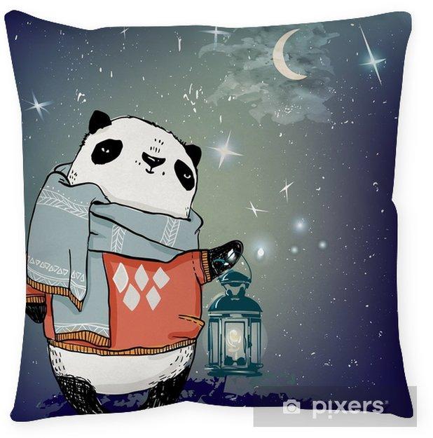 Coussin décoratif Adorable ours panda - Animaux