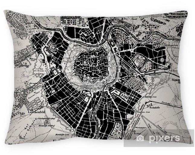 Coussin décoratif Carte historique de Vienne, en Autriche. - Thèmes