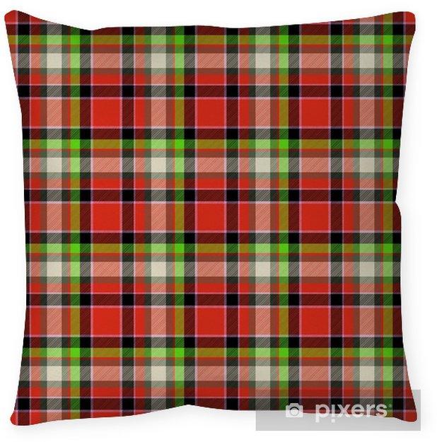 Coussin décoratif Design pattern seamless tartan rouge et vert - Ressources graphiques