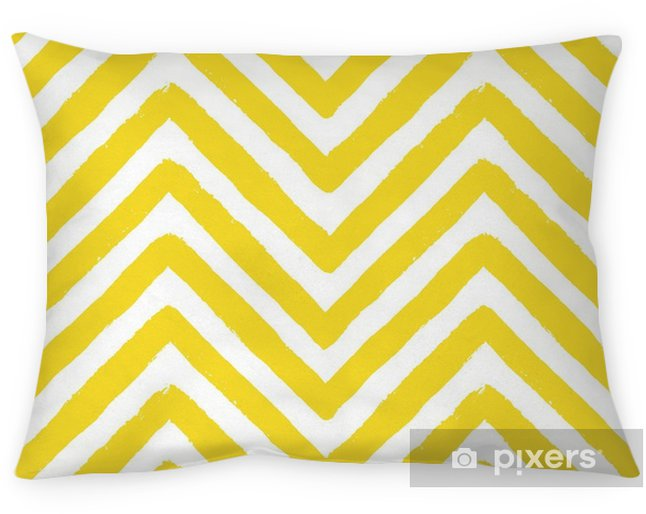 Coussin décoratif Modèle sans couture de vecteur chevron jaune - Paysages