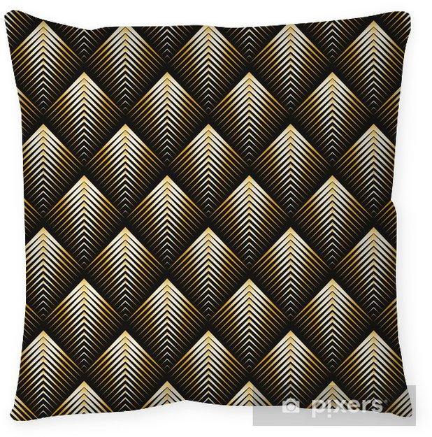 Coussin décoratif Style art déco modèle sans couture texture dorée - Ressources graphiques