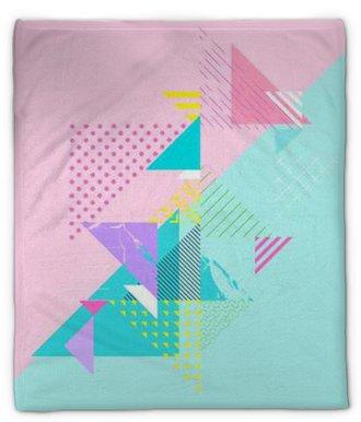 Couverture en molleton Composition géométrique abstraite et colorée