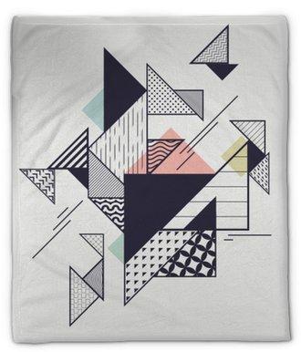 Couverture en molleton Composition géométrique moderne abstrait