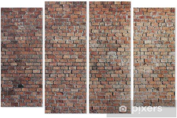 Cuadríptico Vacío Fondo de la pared de ladrillo rojo - Temas