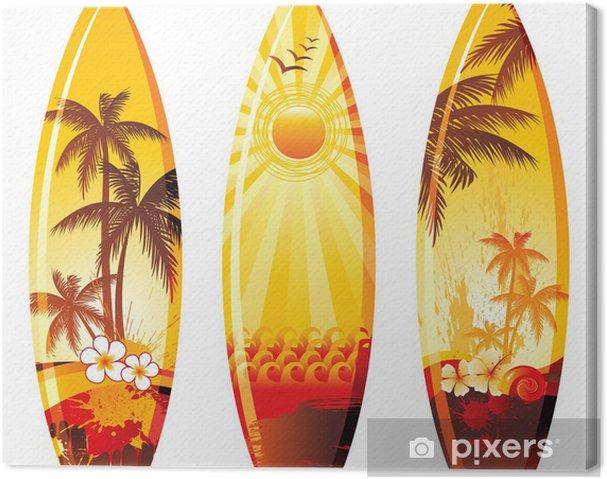 Cuadro en Lienzo 3 tablas de surf - Vacaciones