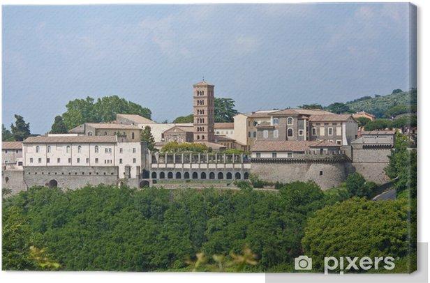 Cuadro en Lienzo Abadía de San Nilo - Grottaferrata - Italia - Vacaciones