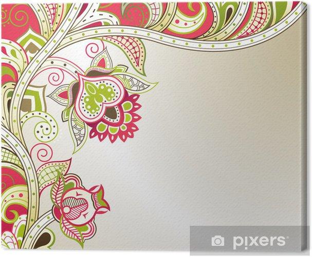 Cuadro en Lienzo Abstracto floral. - Fondos