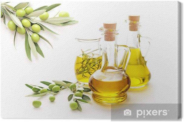 Cuadro en Lienzo Aceite de oliva - Aceitunas