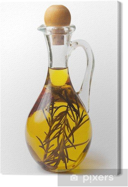 Cuadro en Lienzo Aceite vegetal con especias - Especias, hierbas y condimentos