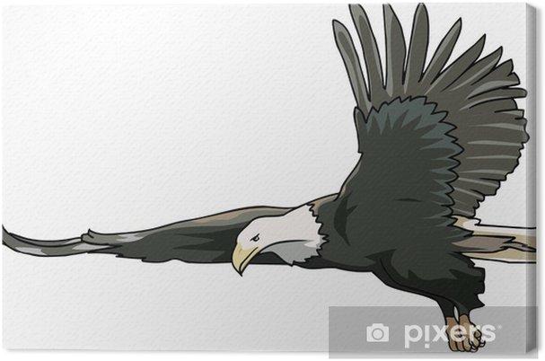 Cuadro en Lienzo Águila calva en busca de presas • Pixers® - Vivimos ...