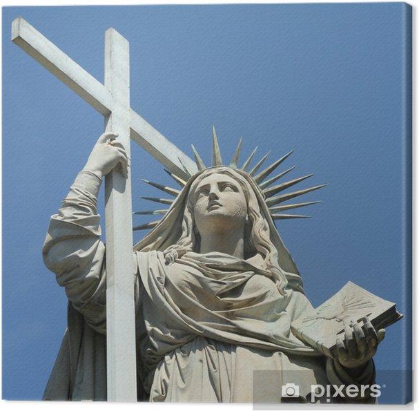Cuadro en Lienzo Alegoría de la fe por Santo Varni, Cementerio de Staglieno, Génova - Europa