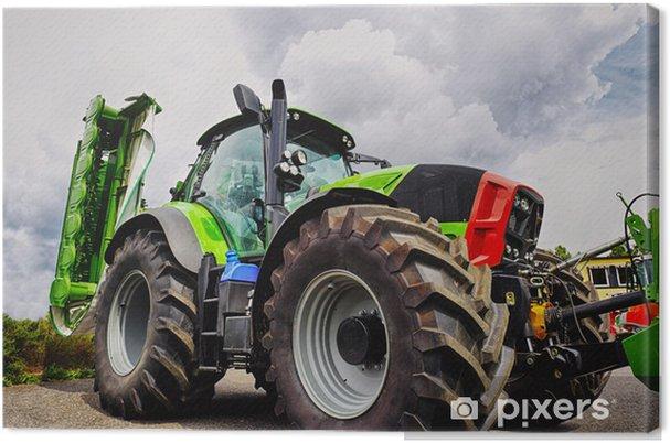 Cuadro en Lienzo Alimentador de cultivo y el arado, neumáticos gigantes, último modelo - Temas