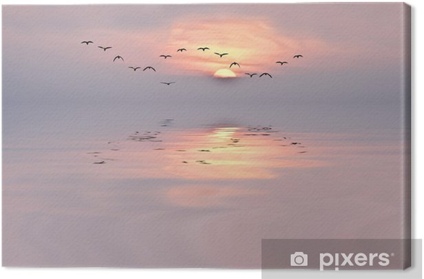 Cuadro en Lienzo Amanecer de colores suaves - iStaging
