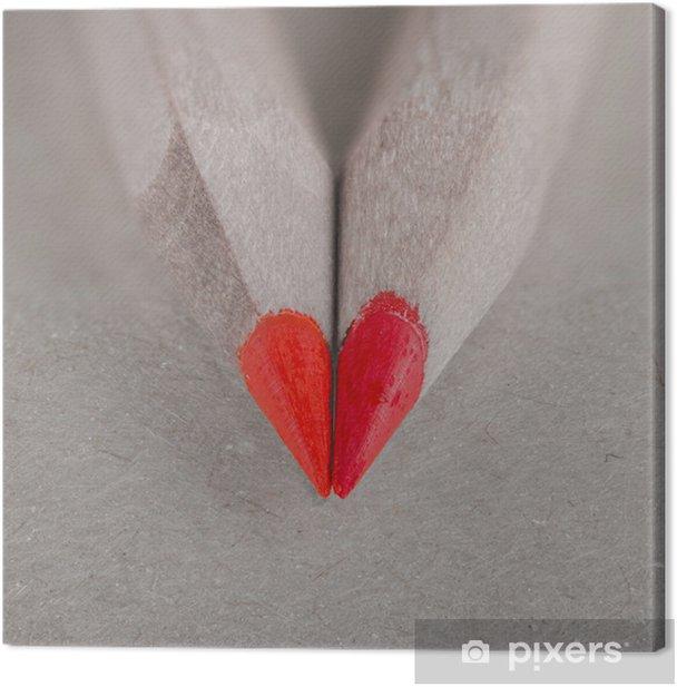 Cuadro en Lienzo Amor lápiz - Recursos gráficos