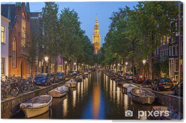 Cuadro en Lienzo Amsterdam canales - Temas