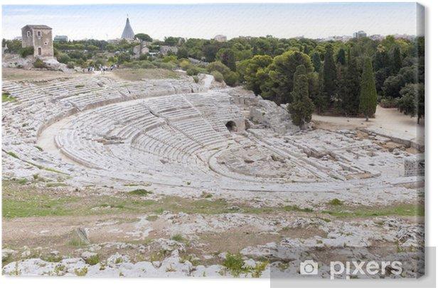 Cuadro en Lienzo Anfiteatro Syracuse - Sicilia - Europa