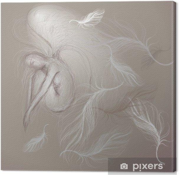 Cuadro en Lienzo Ángel en paz / boceto Fine - Belleza y cuidado personal