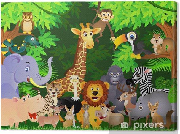 Cuadro en Lienzo Animal cartoon - Para chico