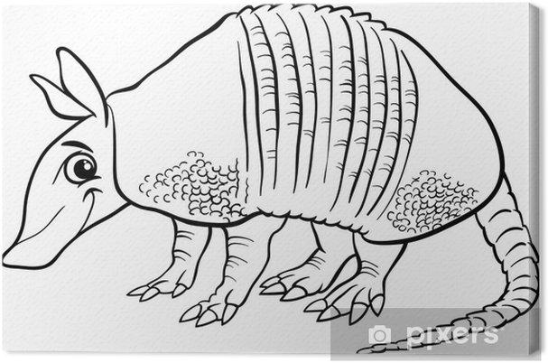 Cuadro en Lienzo Animales armadillo página para colorear de dibujos ...