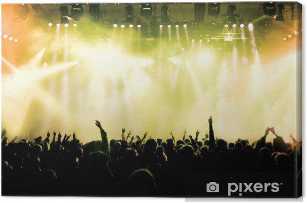 Cuadro en Lienzo Animando multitud de conciertos - Entretenimiento