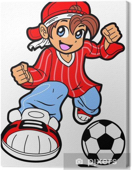 Cuadro en Lienzo Anime Manga Jugador de fútbol - Entretenimiento