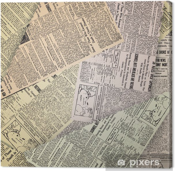 Cuadro En Lienzo Antiguo Fondo De Periódico Pixers Vivimos Para