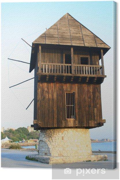 Cuadro en Lienzo Antiguo molino de viento madera - Infraestructuras