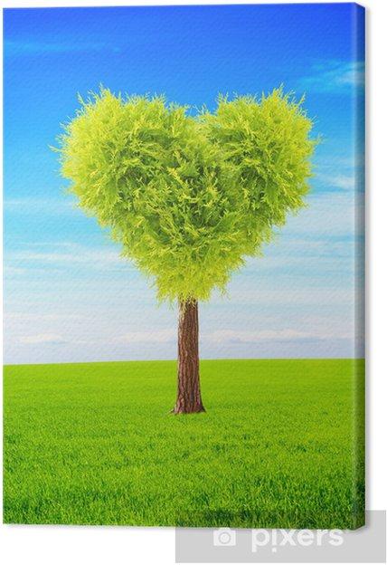 Cuadro En Lienzo árbol De La Forma Del Corazón Pixers Vivimos