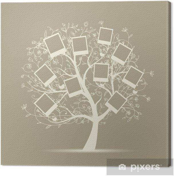 Cuadro en Lienzo Árbol genealógico diseño, insertar sus fotos en marcos - Estilos