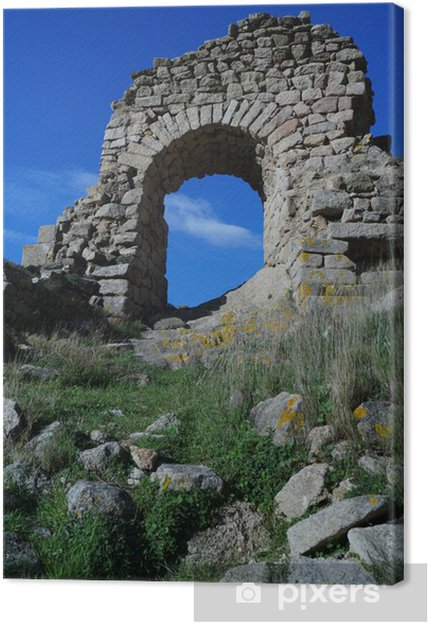 Cuadro en Lienzo Arco medieval, Cataluña - Monumentos