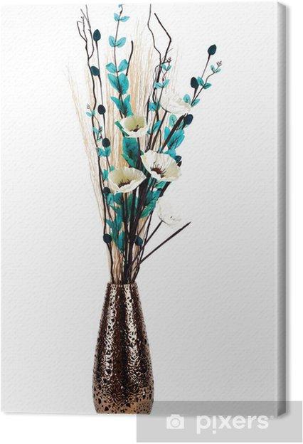 Cuadro En Lienzo Arreglo Floral Elegante De Altura En Un Florero Aislado