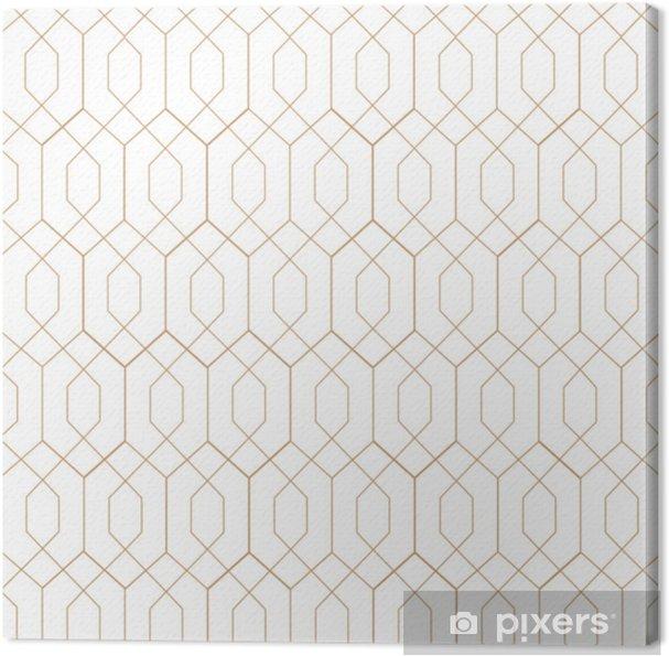 Cuadro en Lienzo Art deco, patrón de vector transparente. arte retro - Recursos gráficos