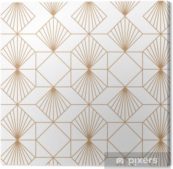 Cuadro en Lienzo Art deco retro de patrones sin fisuras. arte vectorial - Recursos gráficos